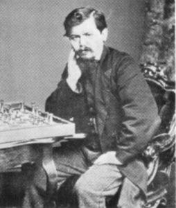 Wilhelm Steinitz im Jahr 1866